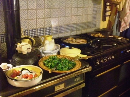 Table d'hôtes - cuisinière