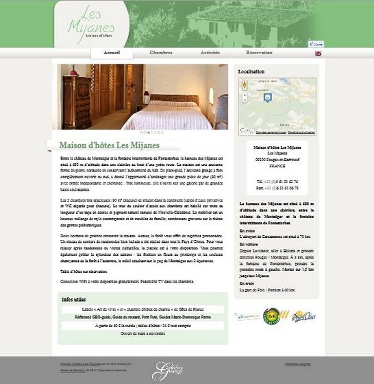 Site internet gîtes, chambres et maison d'hôtes