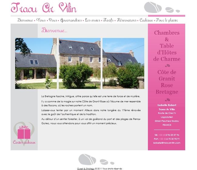 Site internet gîtes, chambres et maison d'hôtes de charme
