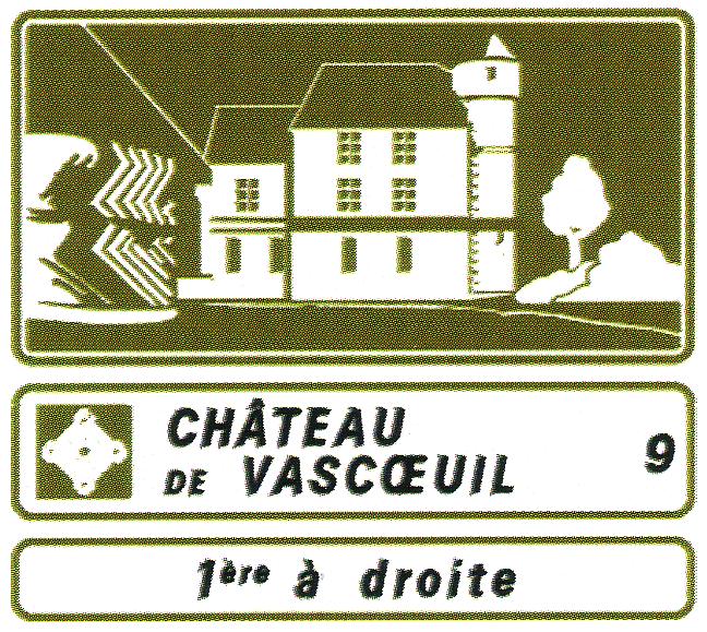 Panneau signalisation maison d'hôtes chambres d'hotes gîtes ruraux chateaux