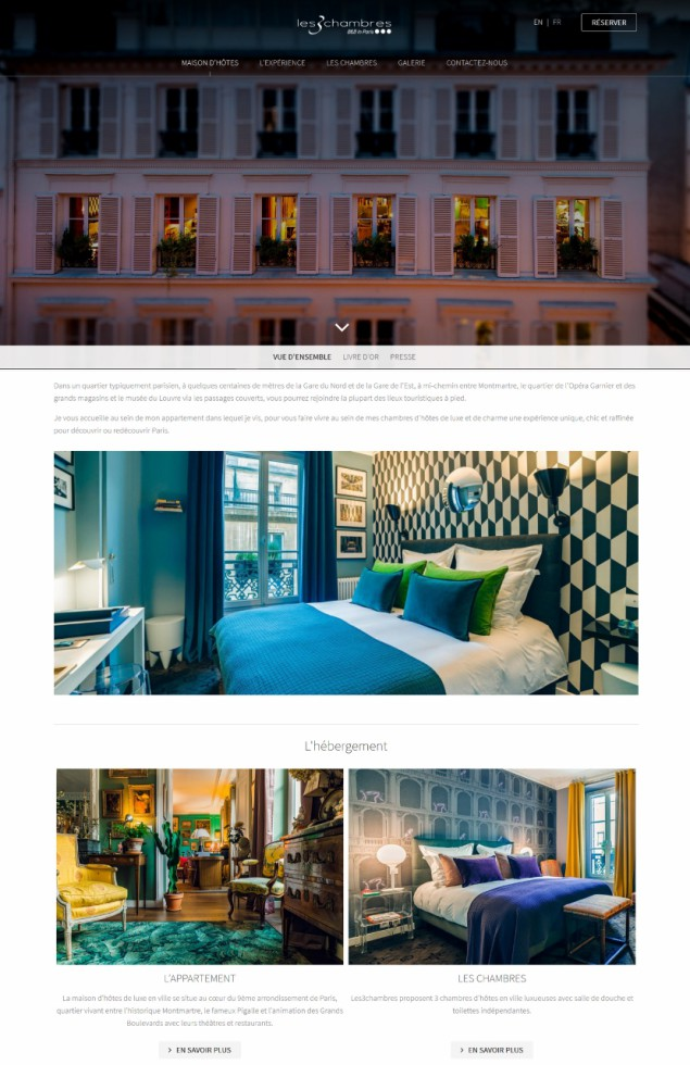 Page_accueil_nouveau_site_Internet_Les3chambres_Paris_guesthouse_GuestEtStrategy